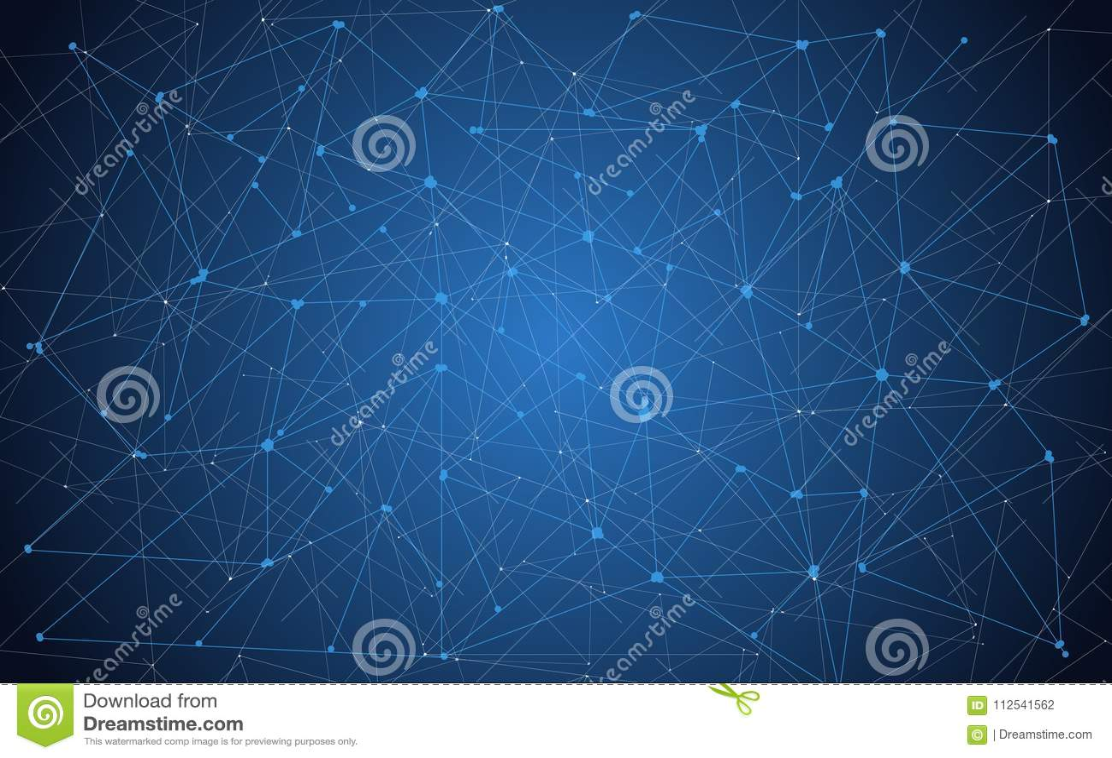 Avenir, fond géométrique de technologie Coloration bleue Illustration de vecteur ENV 10