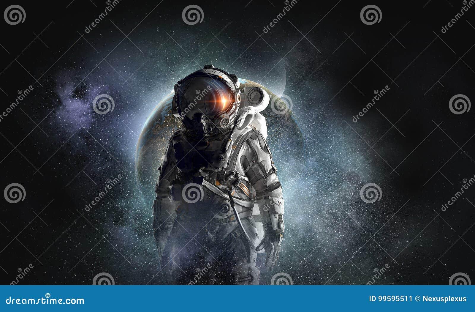 Aventura do astronauta Meios mistos