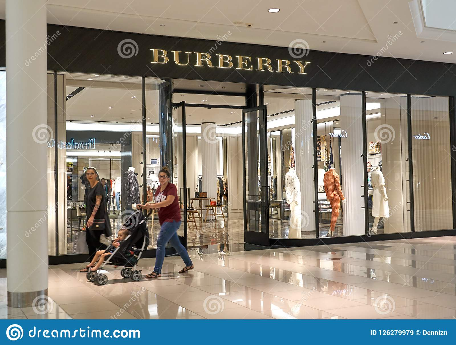 promo code a3625 eb804 Burberry famous boutique. editorial stock image. Image of ...