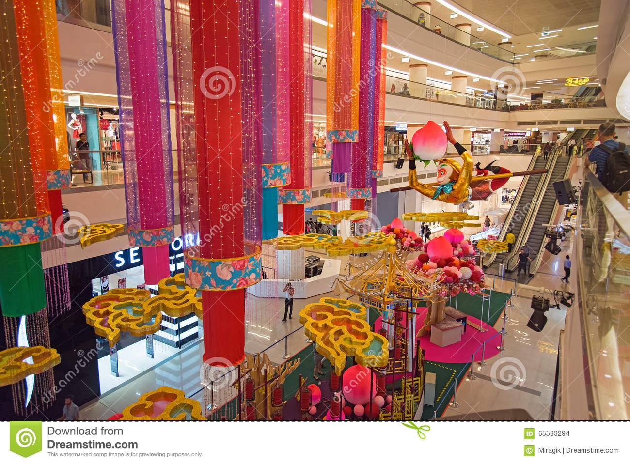 Avenue k shopping mall interior editorial stock image for Interior decoration for new year