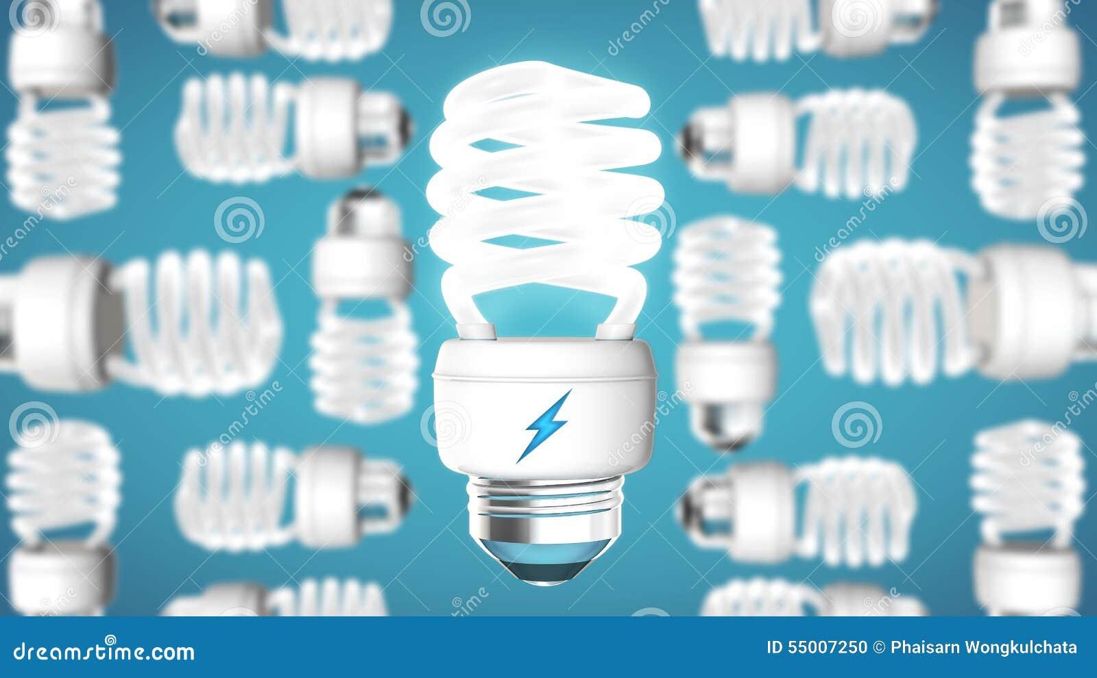 Aver bulb on modern blue background.