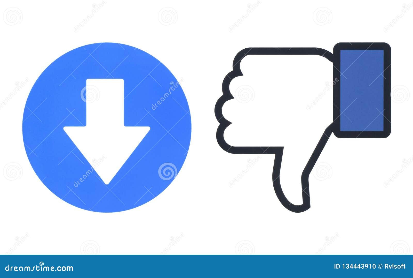 Aversion de Facebook et nouveau bouton de downvote des réactions compréhensives d Emoji
