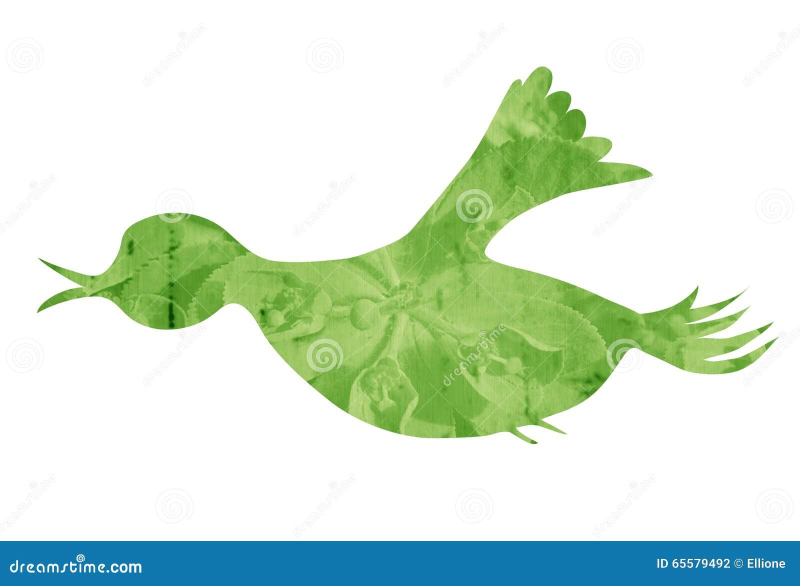 Aves canoras do voo da grama