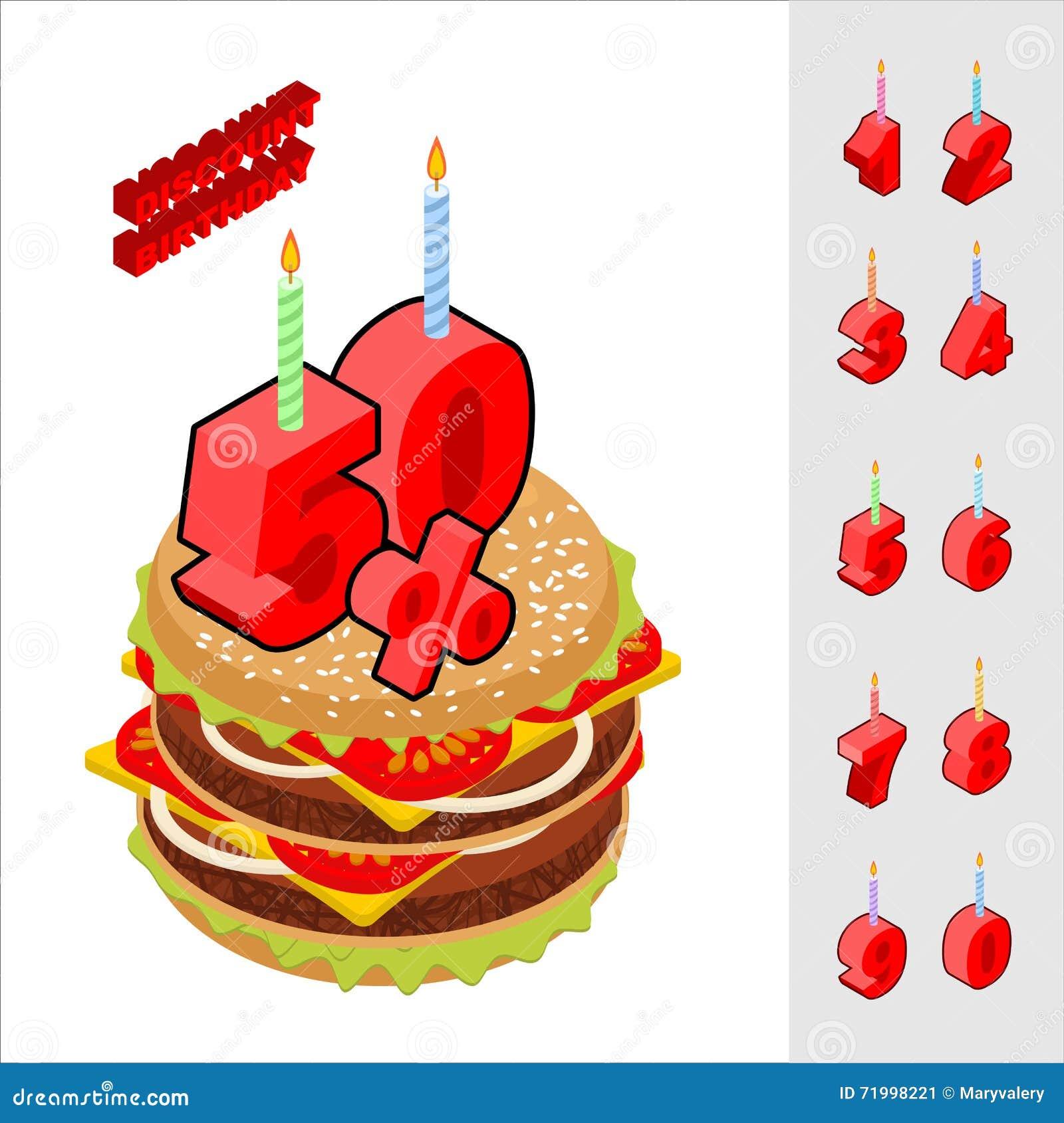 födelsedag när Avfärdar Födelsedag, När Köpa Hamburgaren Vektor Illustrationer  födelsedag när