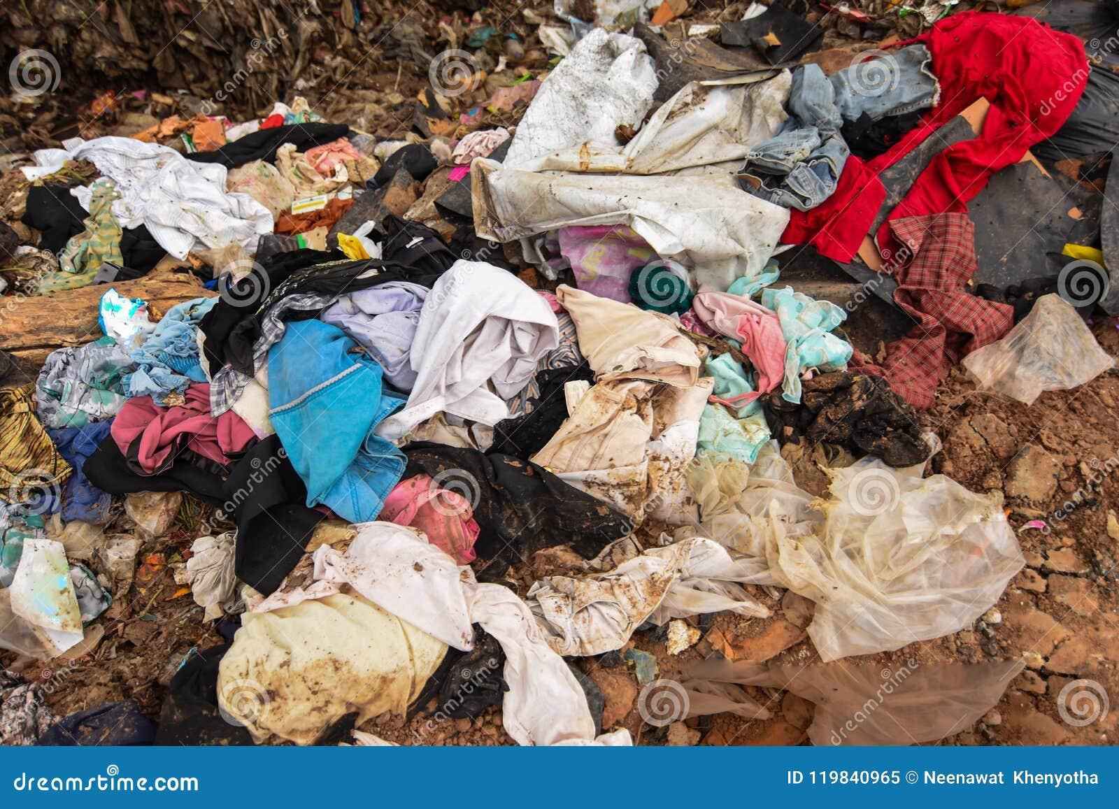 Avfalls från avskräde som är svår att ta bort