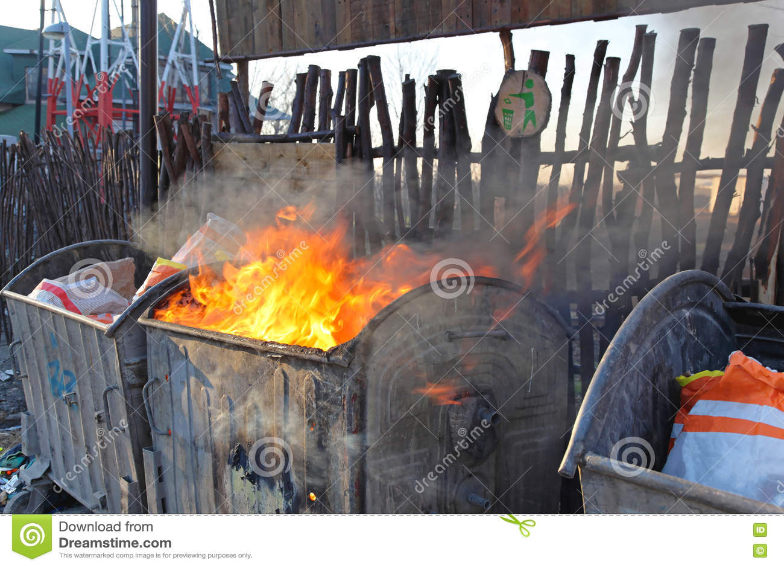 Avfallscontainerbrand