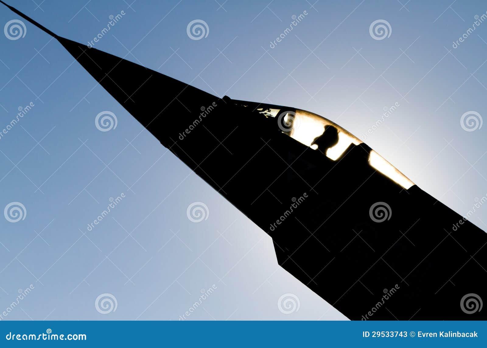 Avião de combate do jato