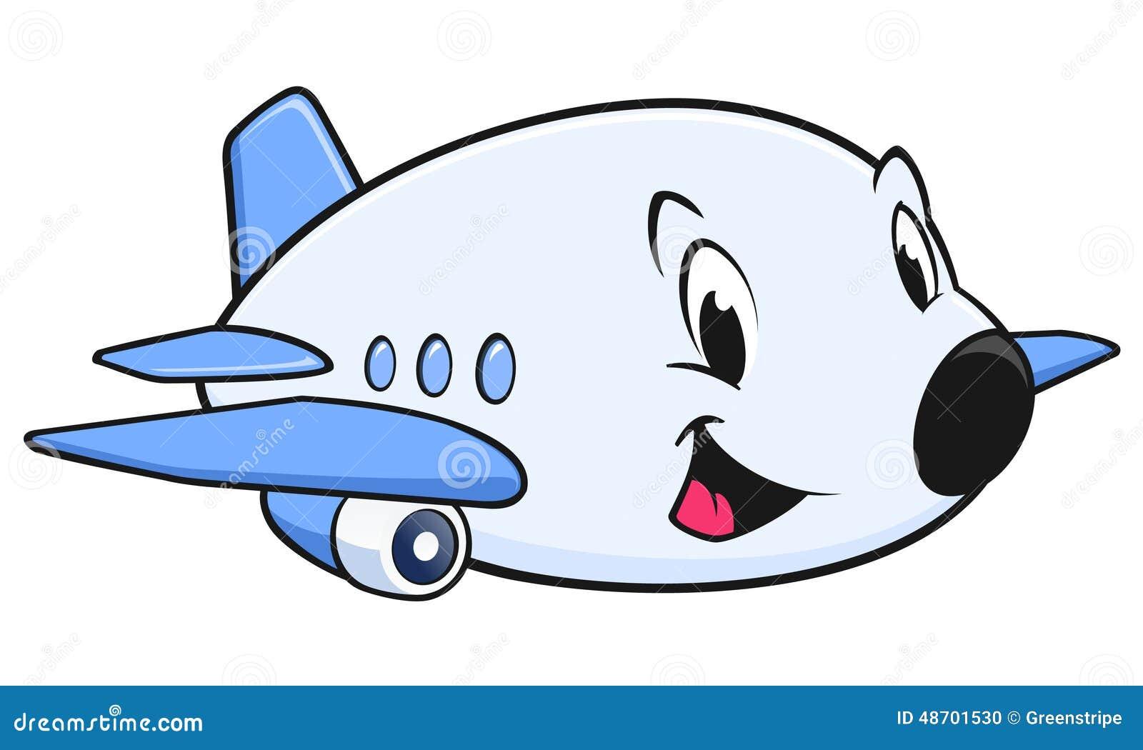 Aviao Dos Desenhos Animados Ilustracao Do Vetor Ilustracao De
