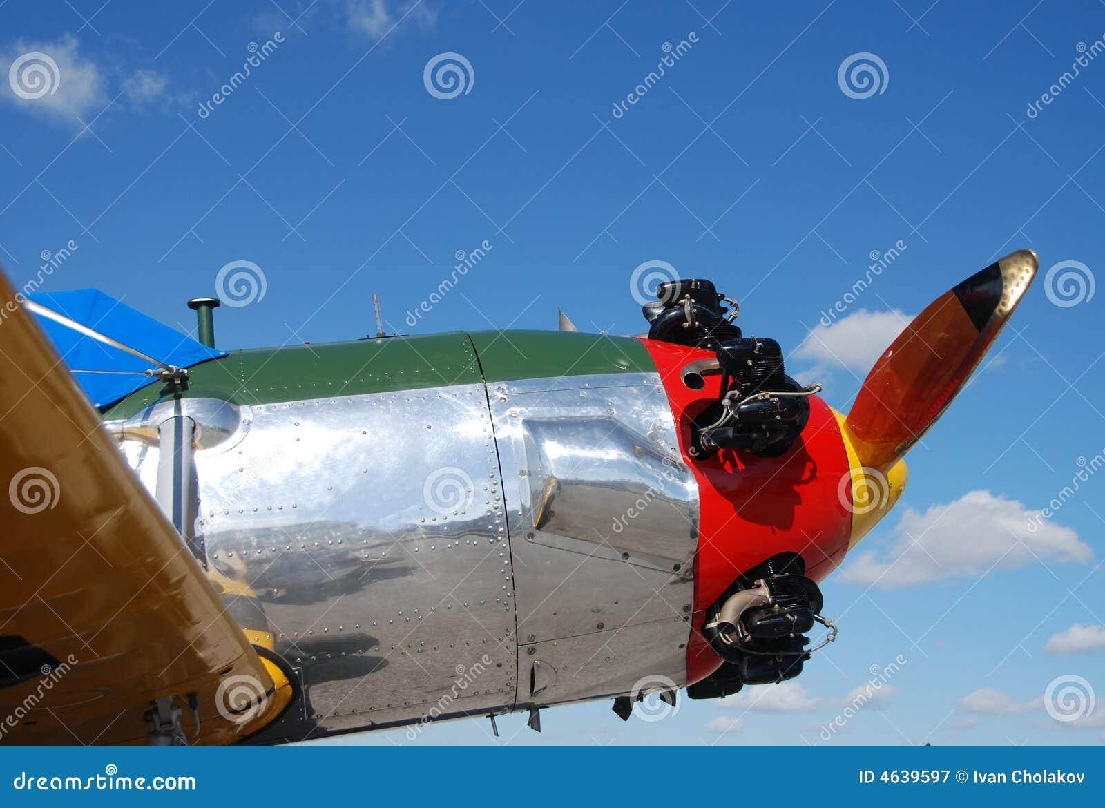 Avião retro do estilo