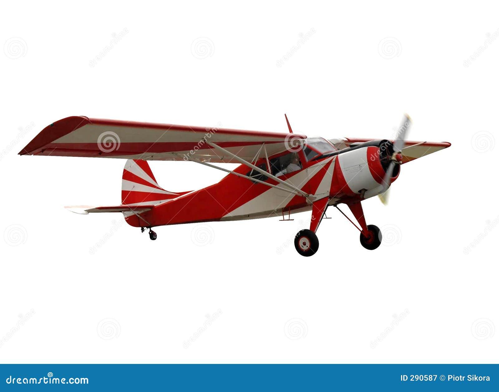 Avião vermelho, isolado