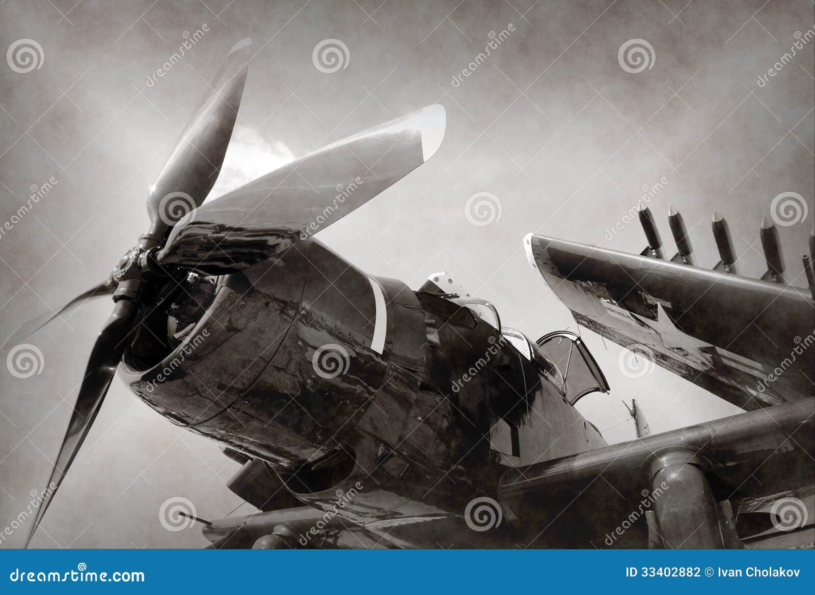 Avión de combate de la era de la Segunda Guerra Mundial