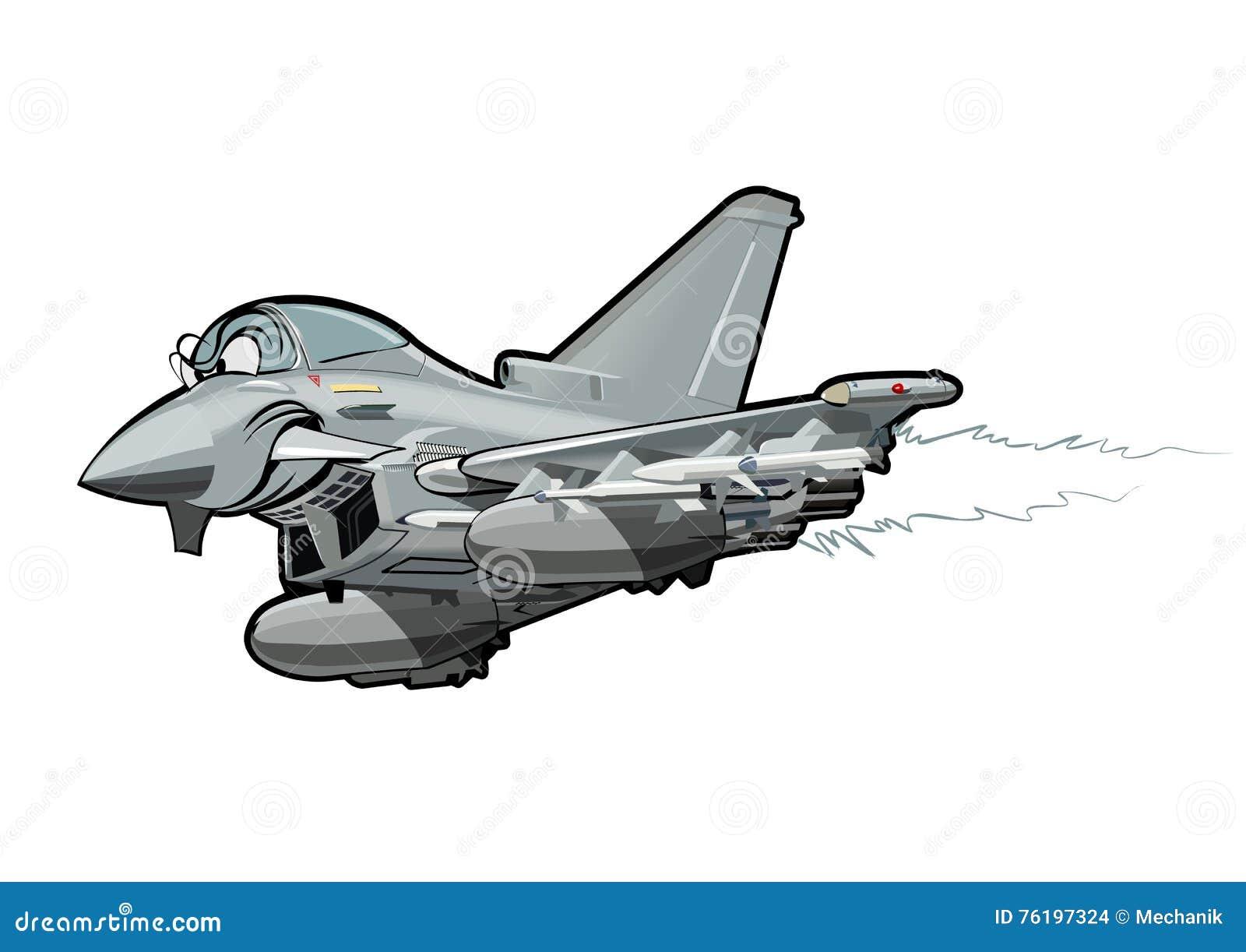 Avión de combate de la historieta