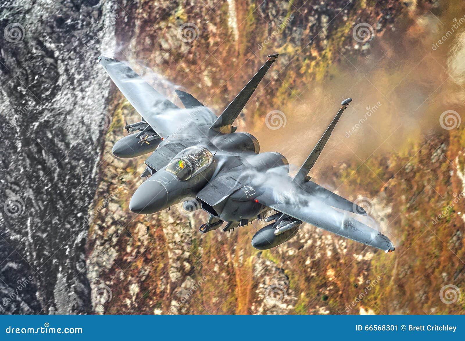 Avión de combate de los militares F15