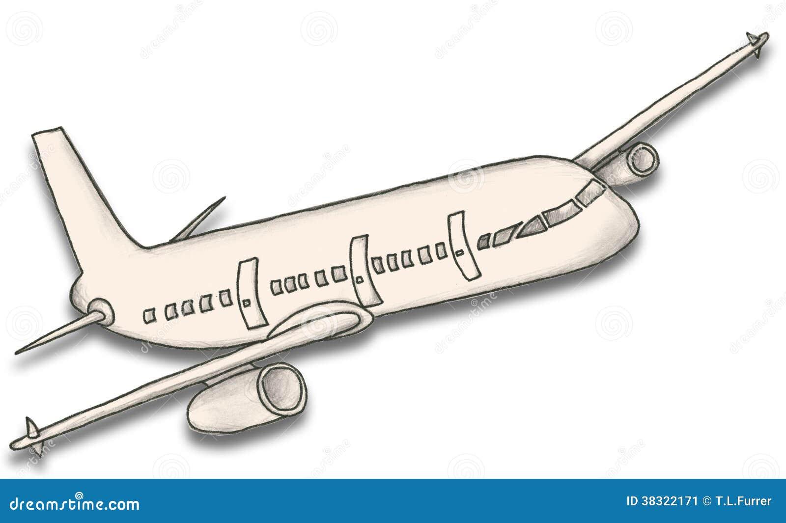 Avión De Papel Con La Trayectoria De Recortes Stock de ilustración ...
