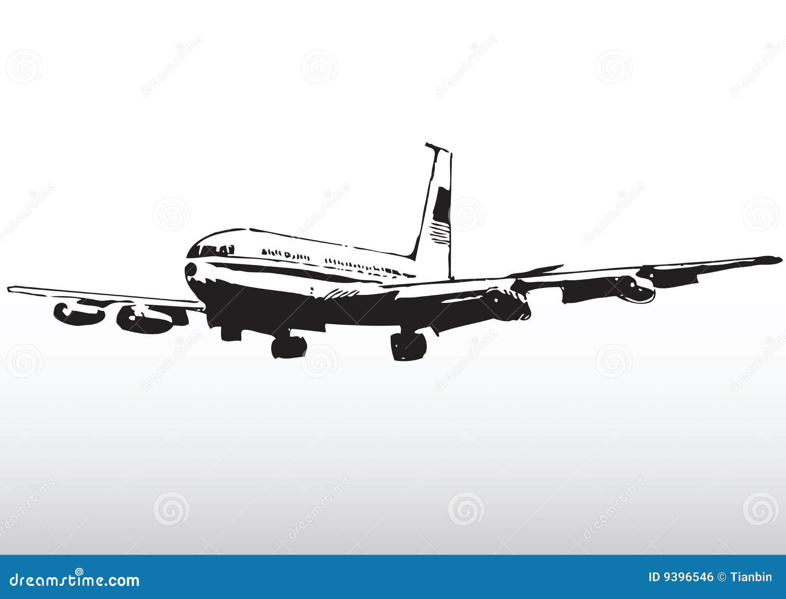 Avión de pasajeros comercial en vuelo