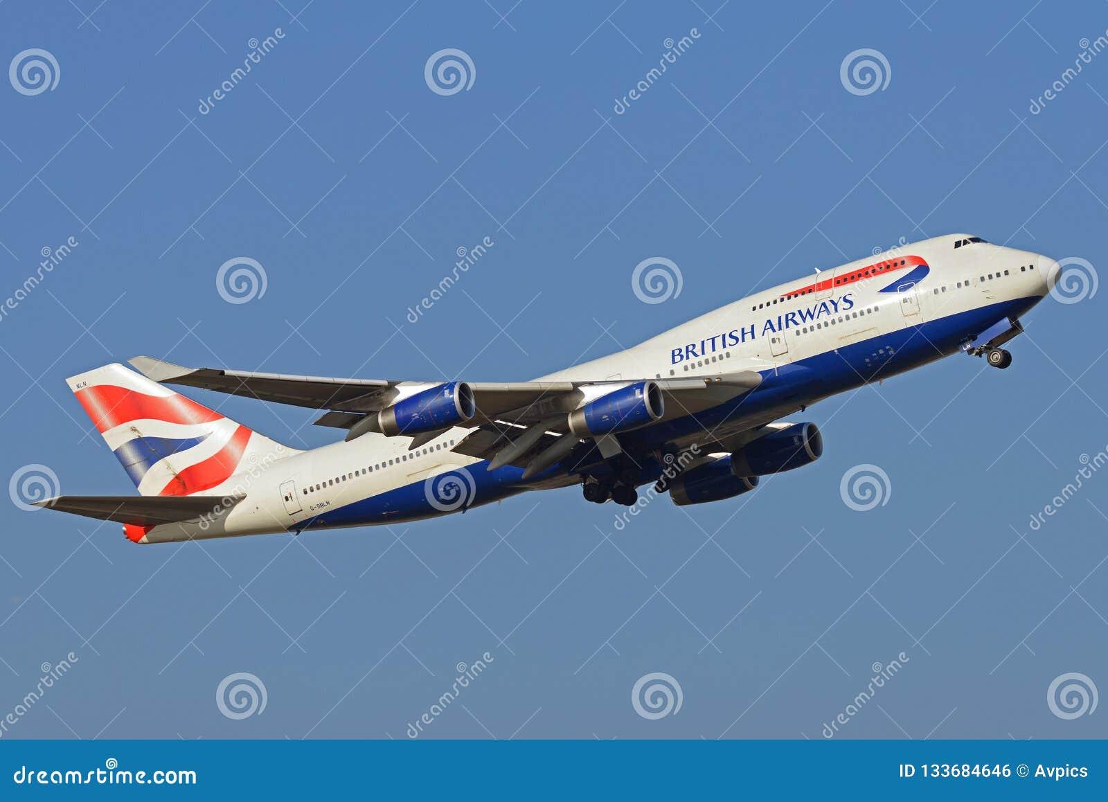 Avión del Jumbo de British Airways Boeing 747