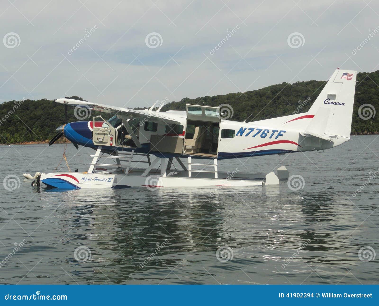 Avión en Dale Hollow Lake en Tennessee