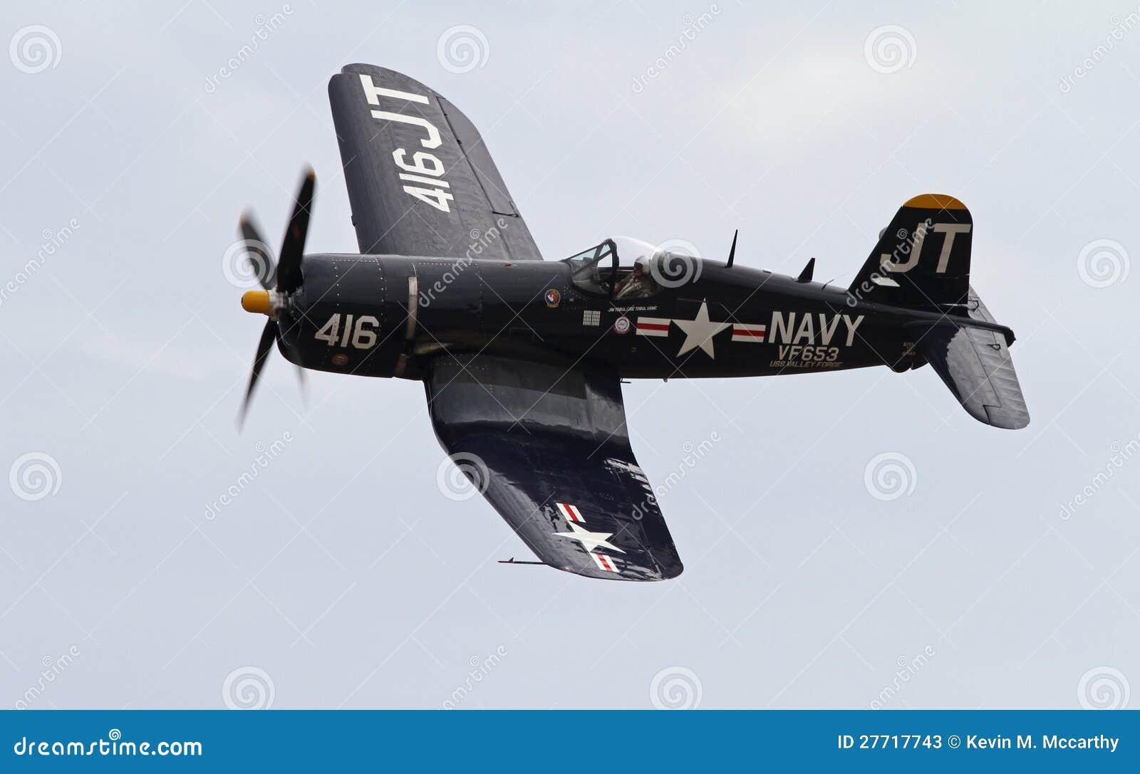 Aviões de lutador do Corsair da segunda guerra mundial