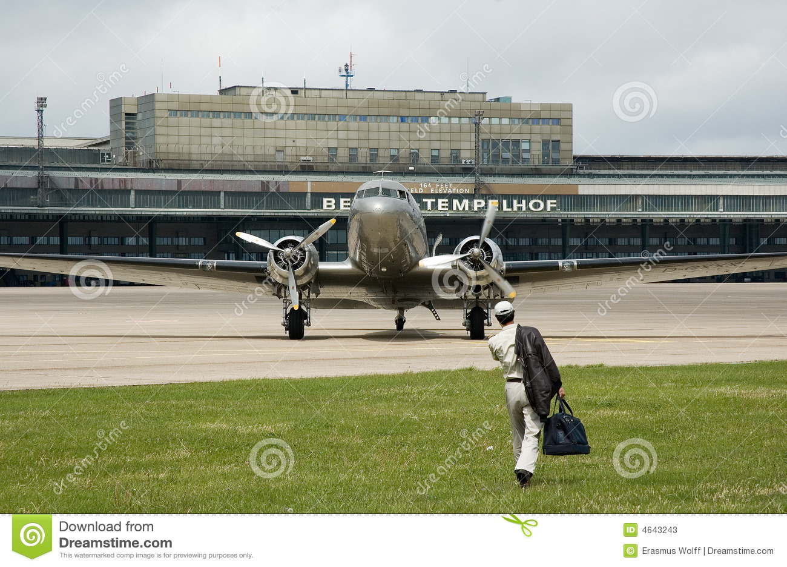 Aviões velhos em Berlim tempelhof