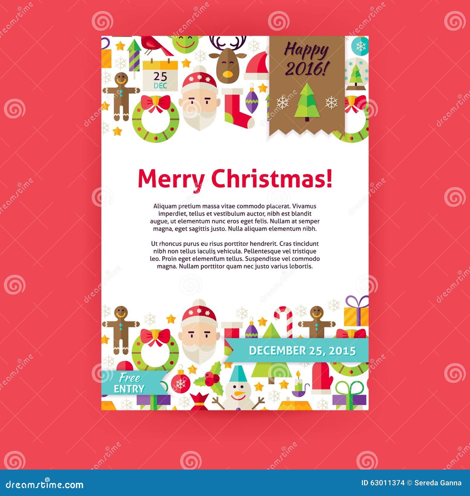 Moderno Plantilla De Fiesta De Navidad Gratis Imagen - Ejemplo De ...