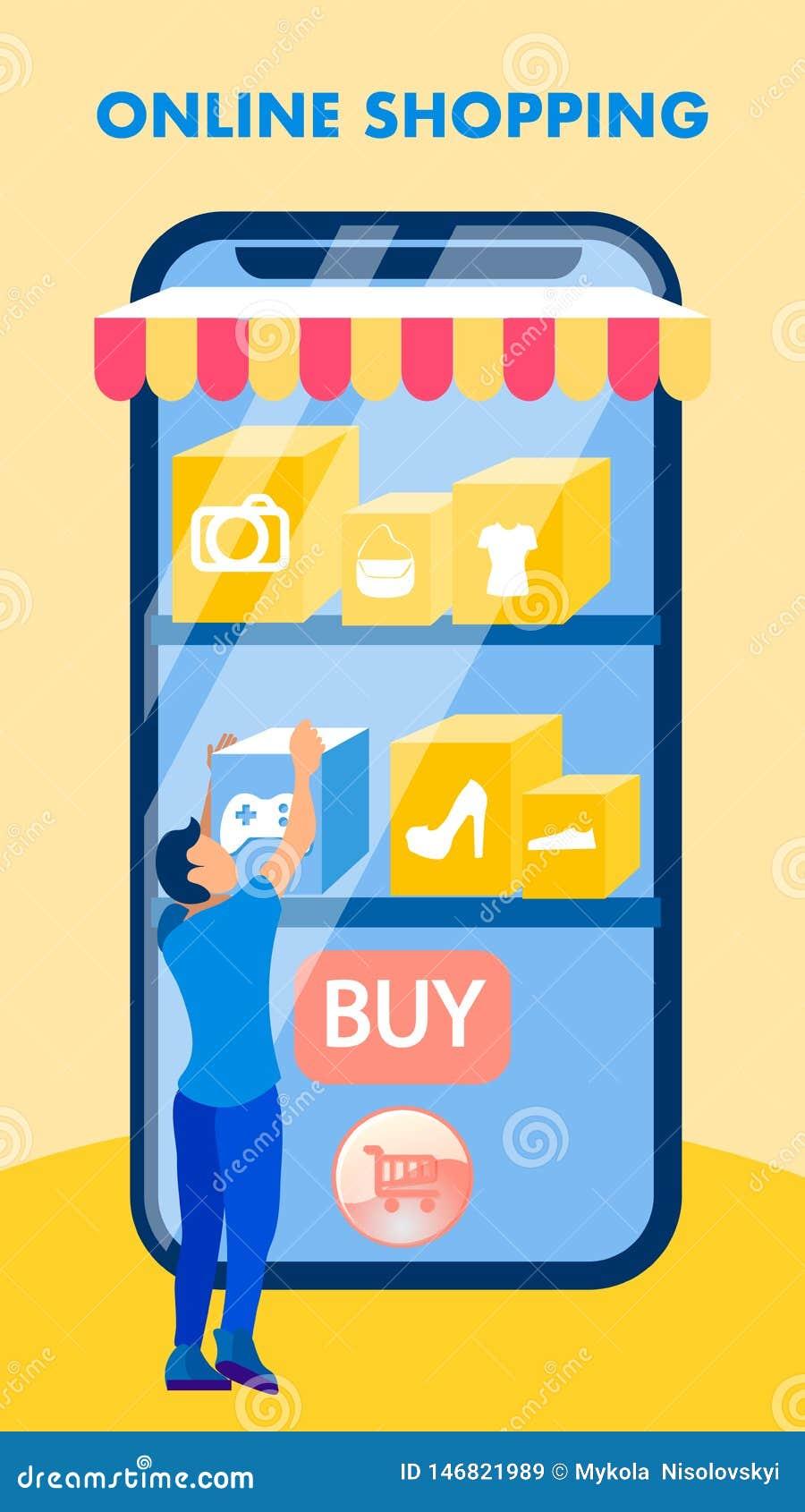 Aviador plano de la venta de la tienda de la aplicación móvil, folleto