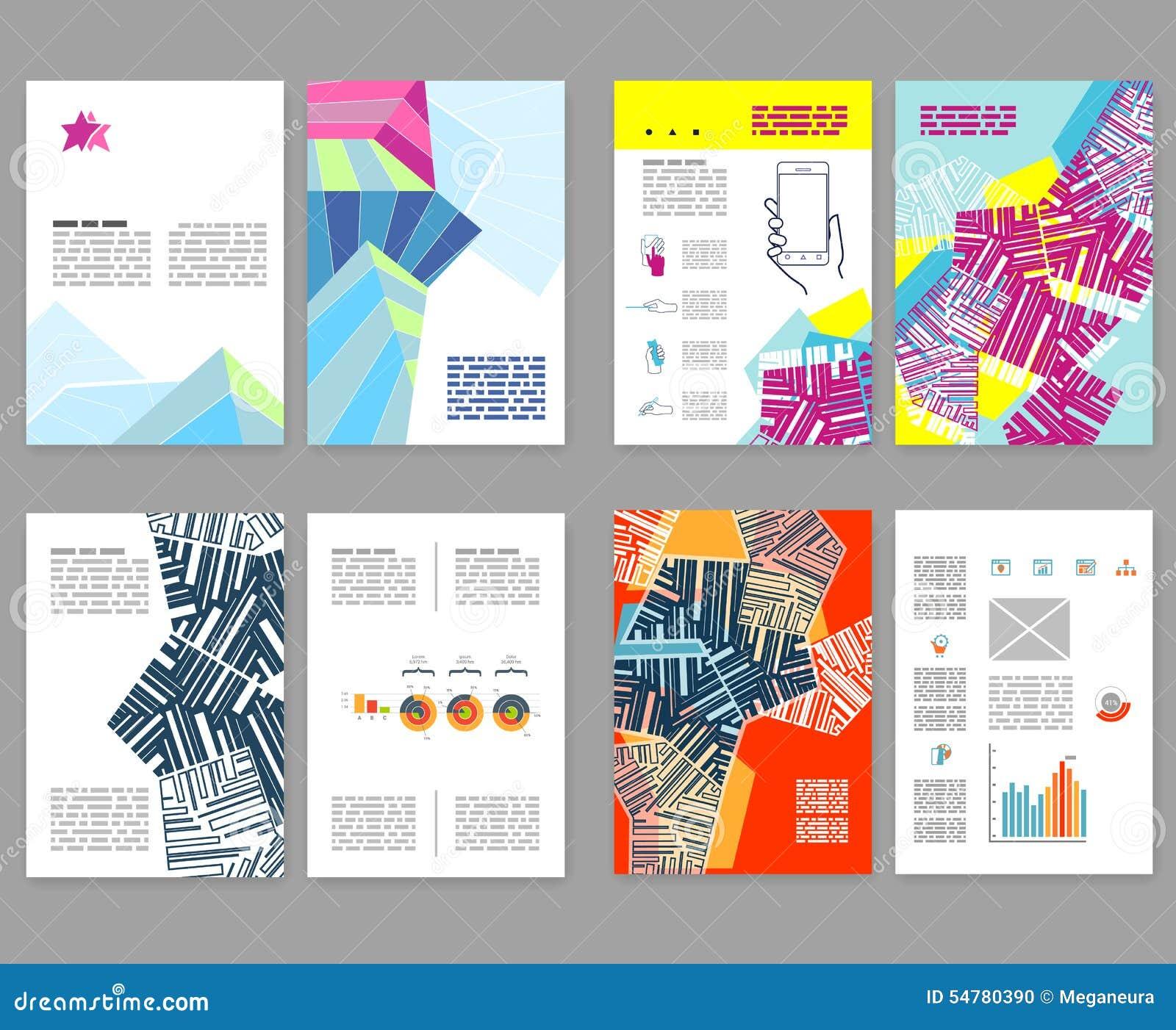 Aviador, prospecto, sistema de la disposición del folleto Modelo Editable del diseño A4