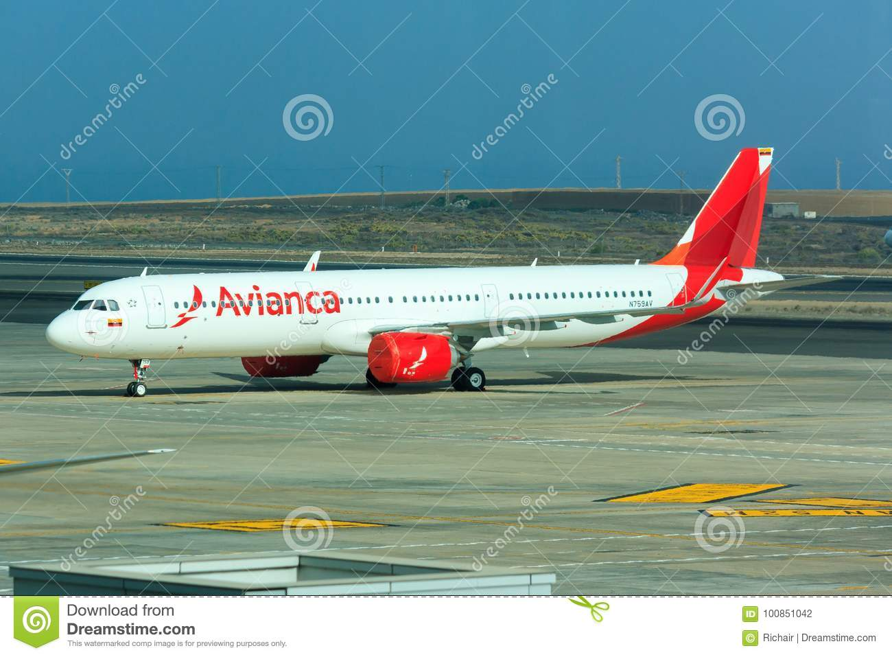Avianca Airbus A321 neo editorial photography  Image of