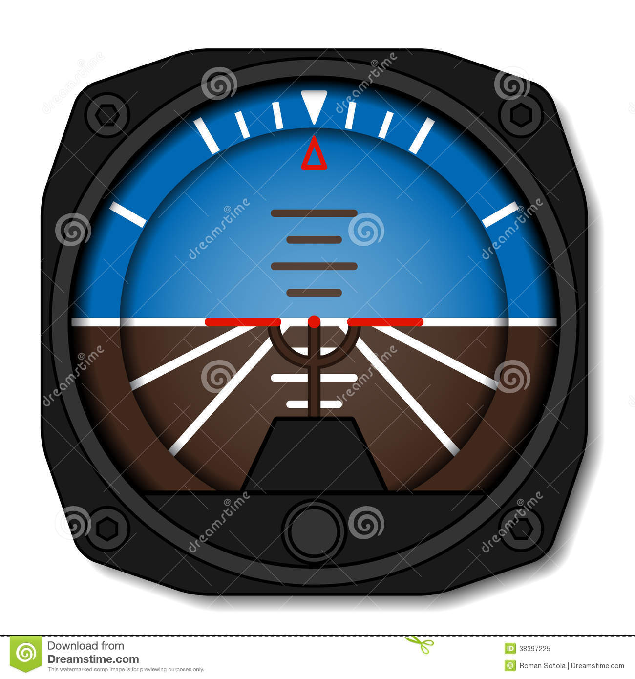 Aviation Airplane Attitude Indicator - Artificial ...