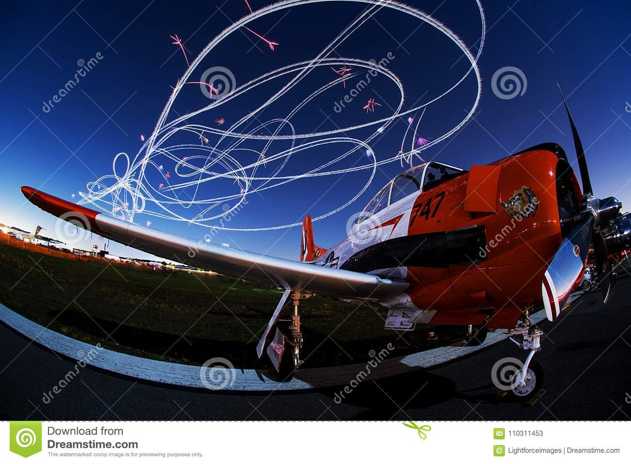 Aviation Art in the Night Sky!