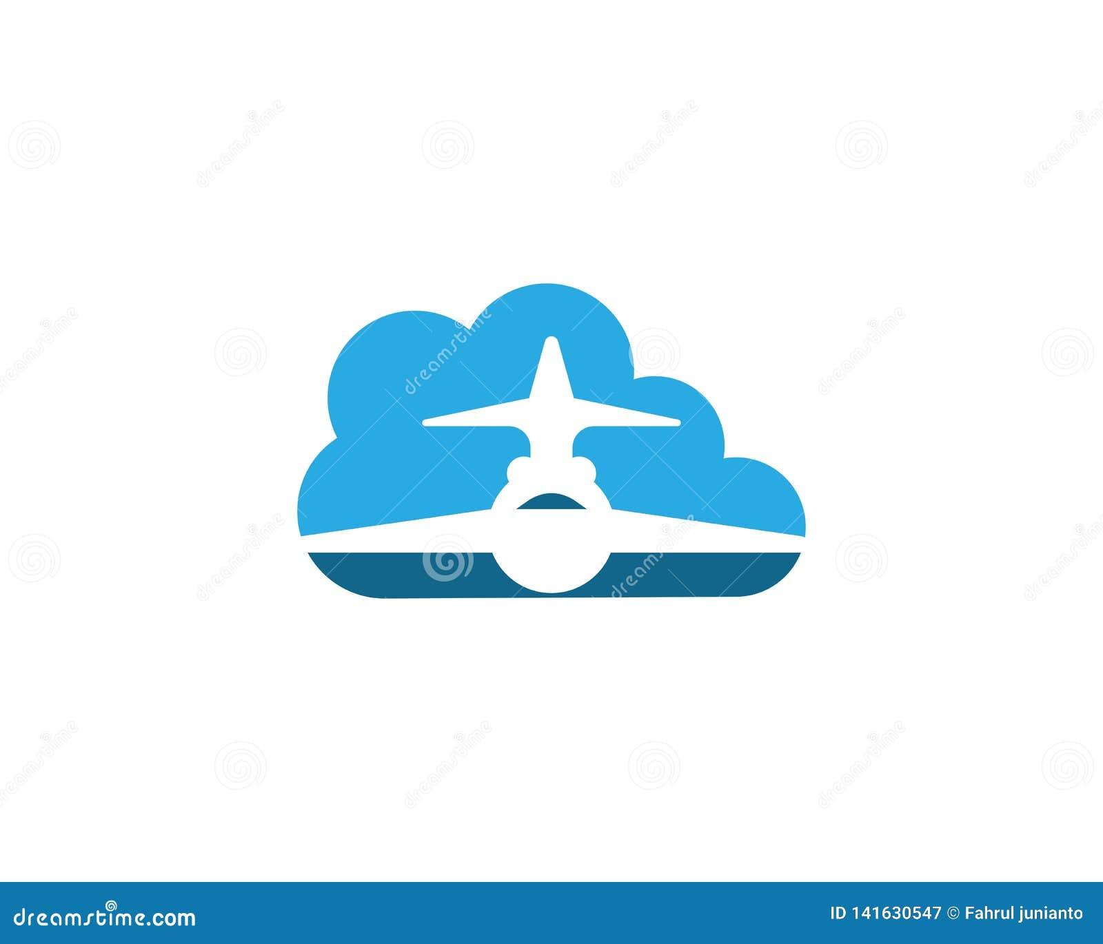 Aviation travel icon logo stock vector. Illustration of ...