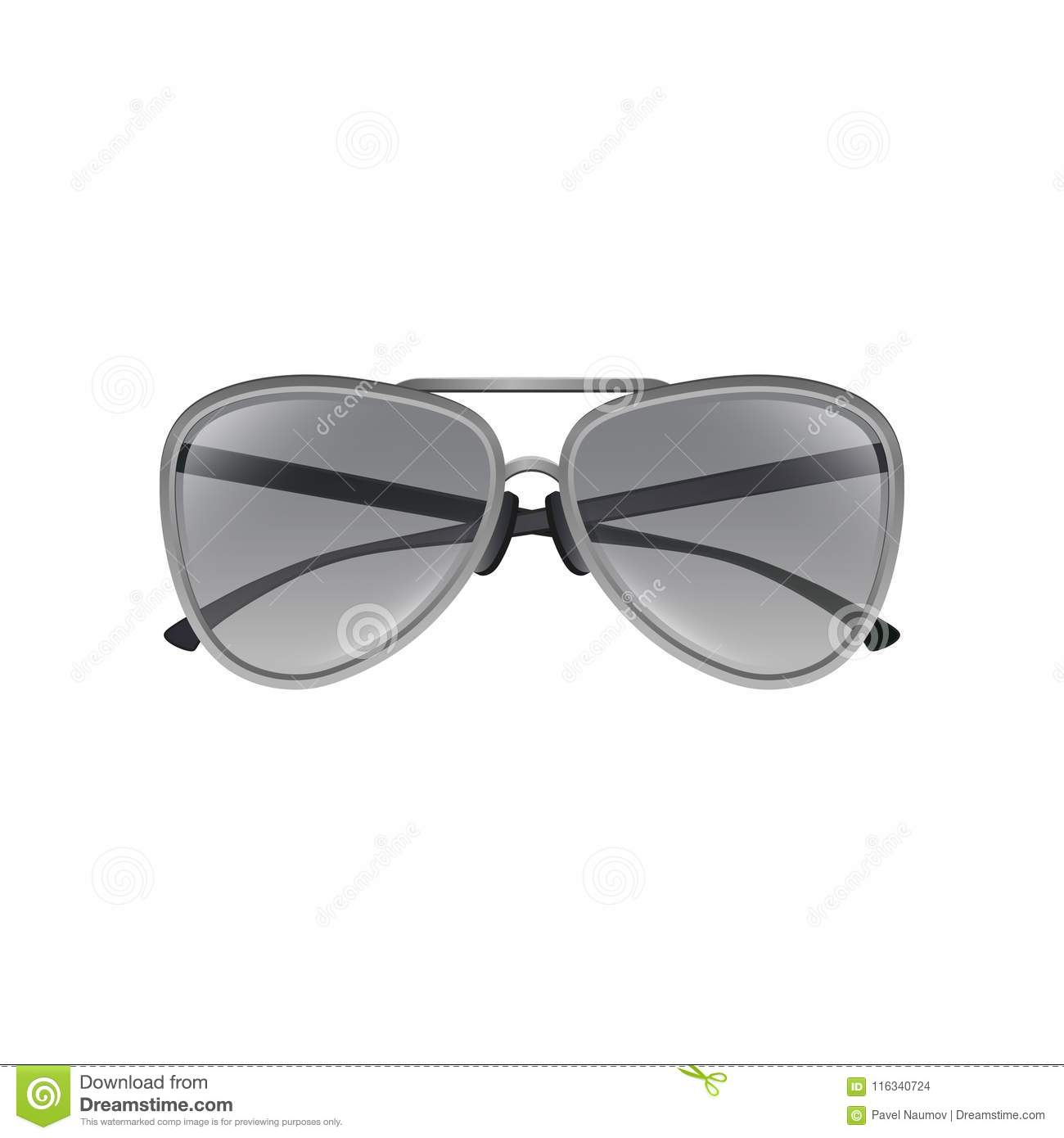 205d3285aa Aviator Sunglasses With Gray Tinted Lenses
