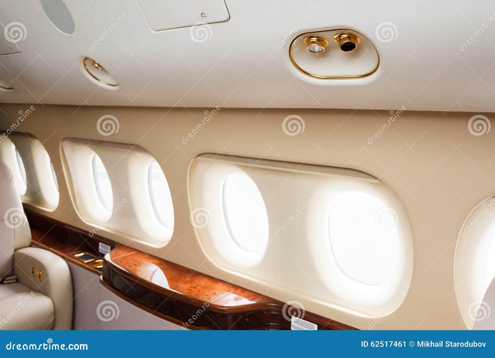 Jet Privato Lussuoso : Jet privato interni interno di un jet privato immagini stock un