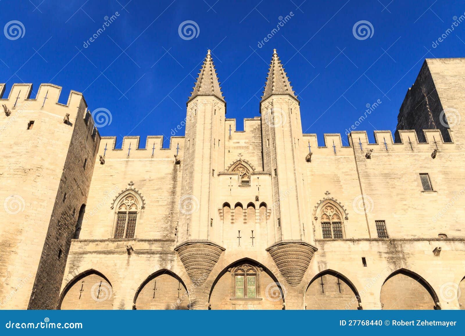 Avignon en Provence - visualisez sur papes Palace