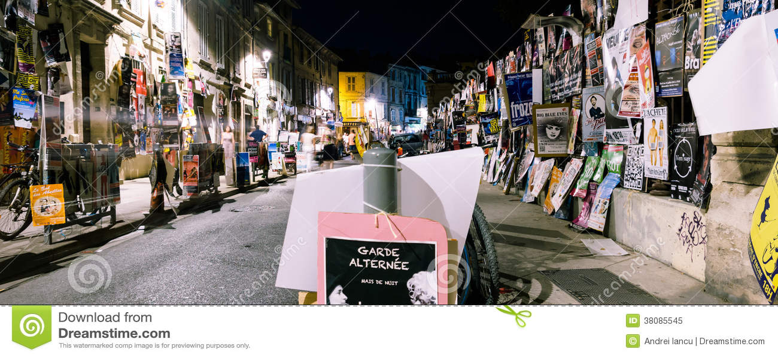 Avignon festival posters night