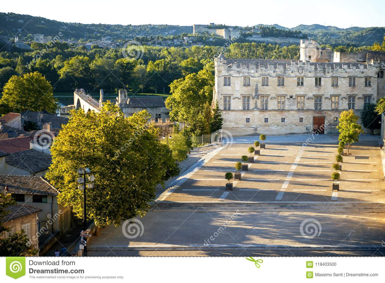 Avignon Palais Des Papes Popes Palace In Avignon In A Beautiful Summer Day Franc Stock Photo Image Of Cathedral Gothic 118403500