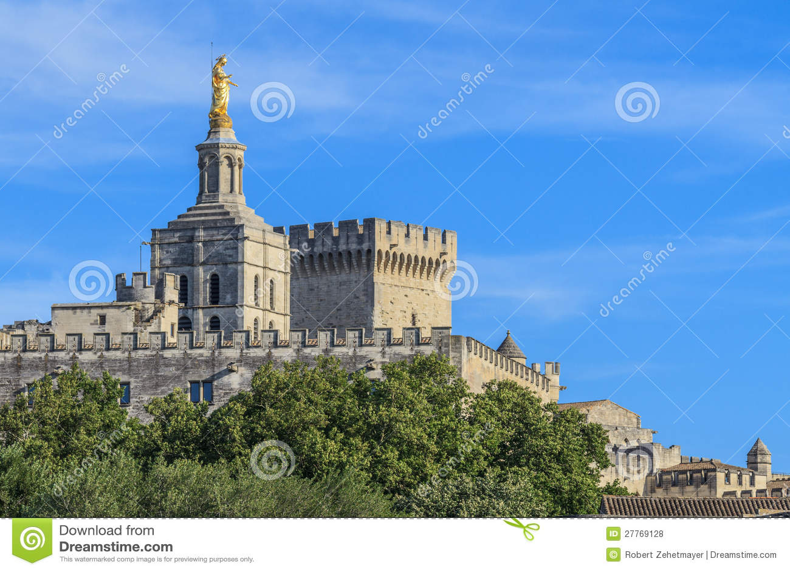 avignon p pste palace frankreich lizenzfreie stockfotos bild 27769128. Black Bedroom Furniture Sets. Home Design Ideas