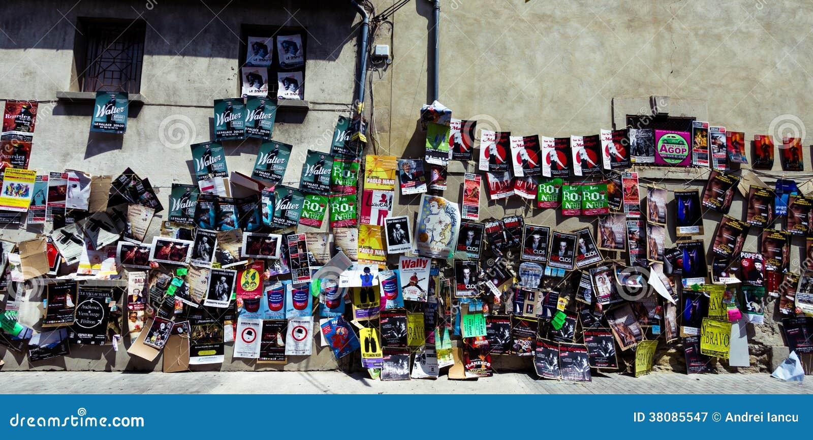 Download Avignon Theatre Festival Posters Editorial Photography