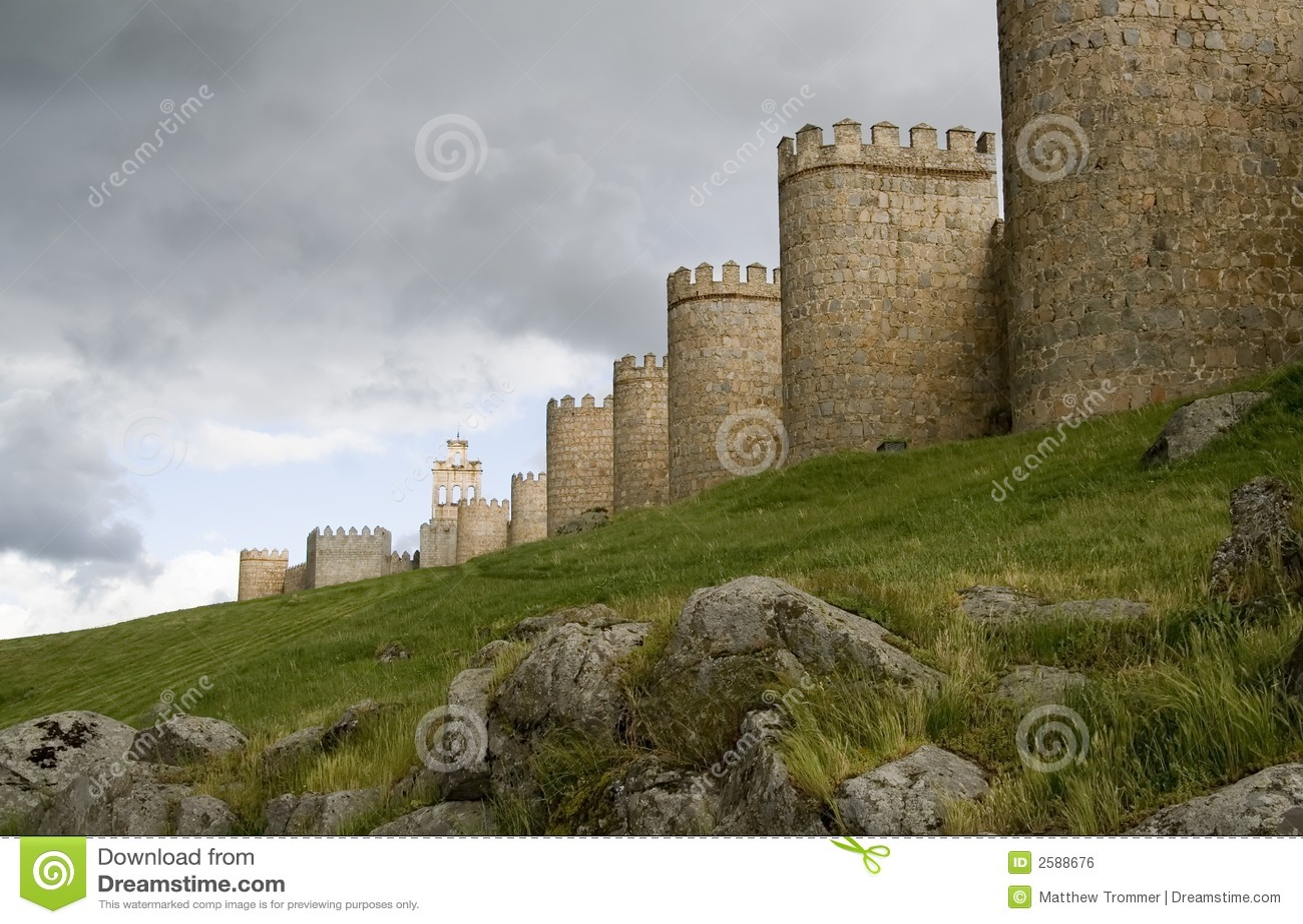 Avila de Muren van de Stad