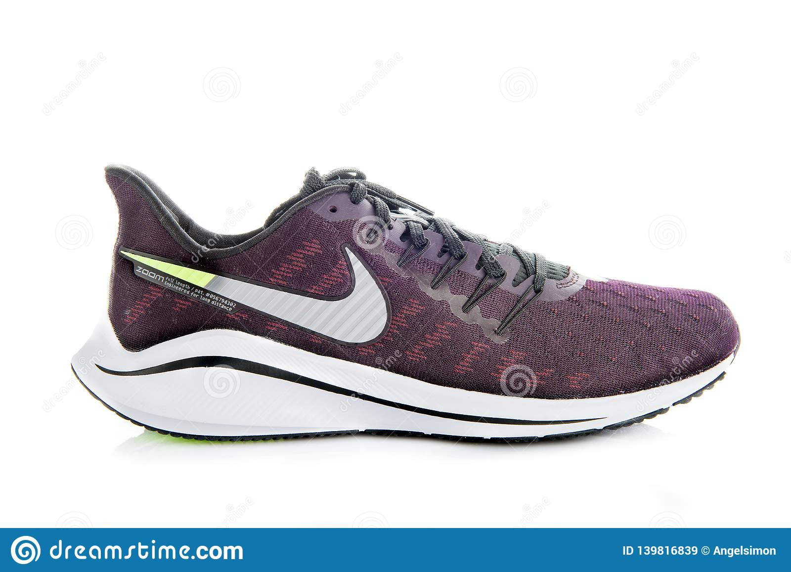 72e5a576 Prodct shoot of Nike air zoom vomero 14 running shoes isolated on white  background. More similar stock images