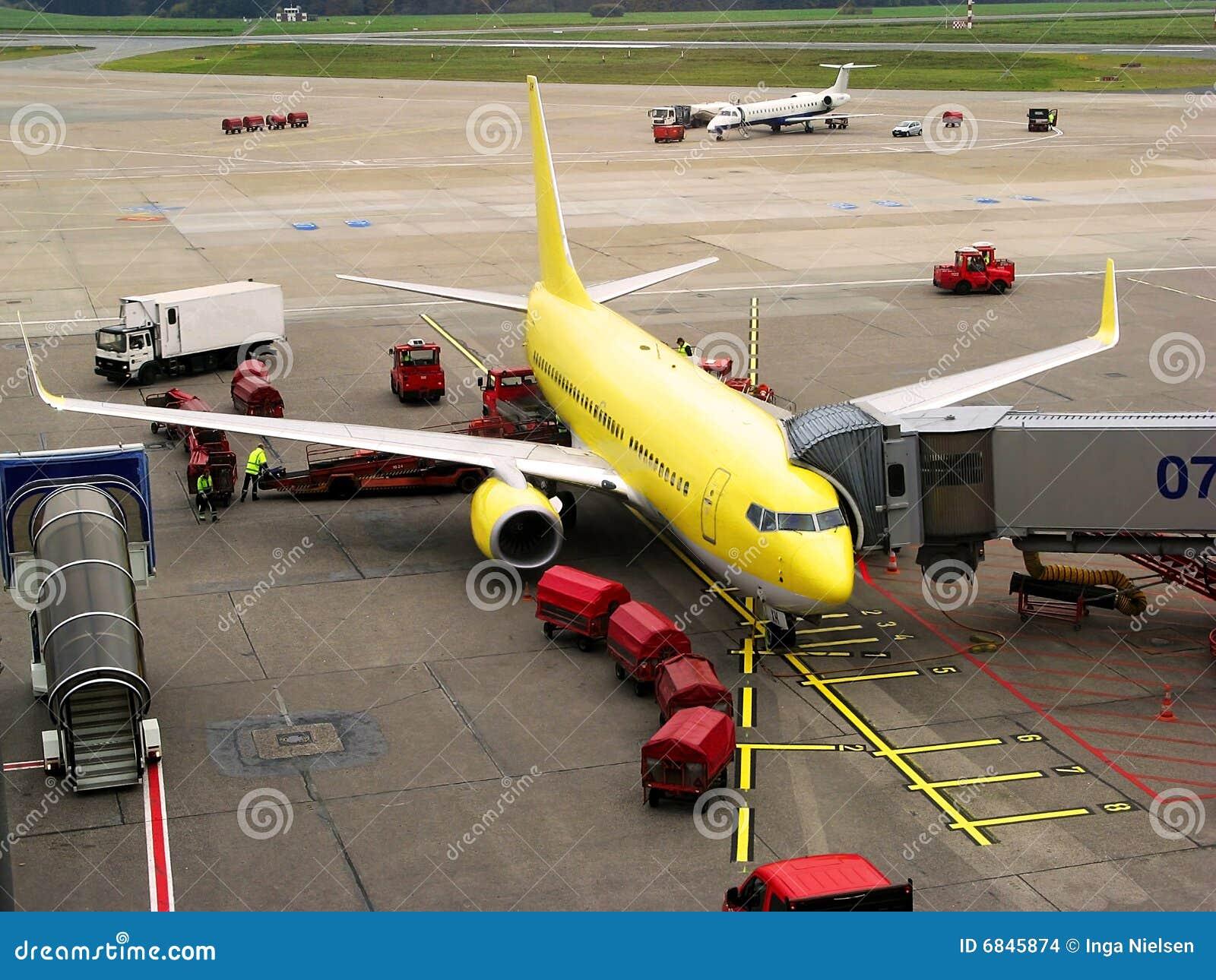 Avion à l aéroport