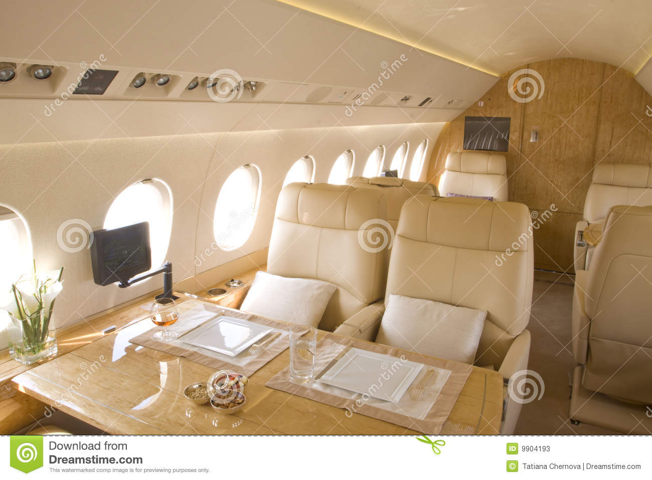 Avion r action d 39 int rieur d 39 affaires photos stock for Interieur avion
