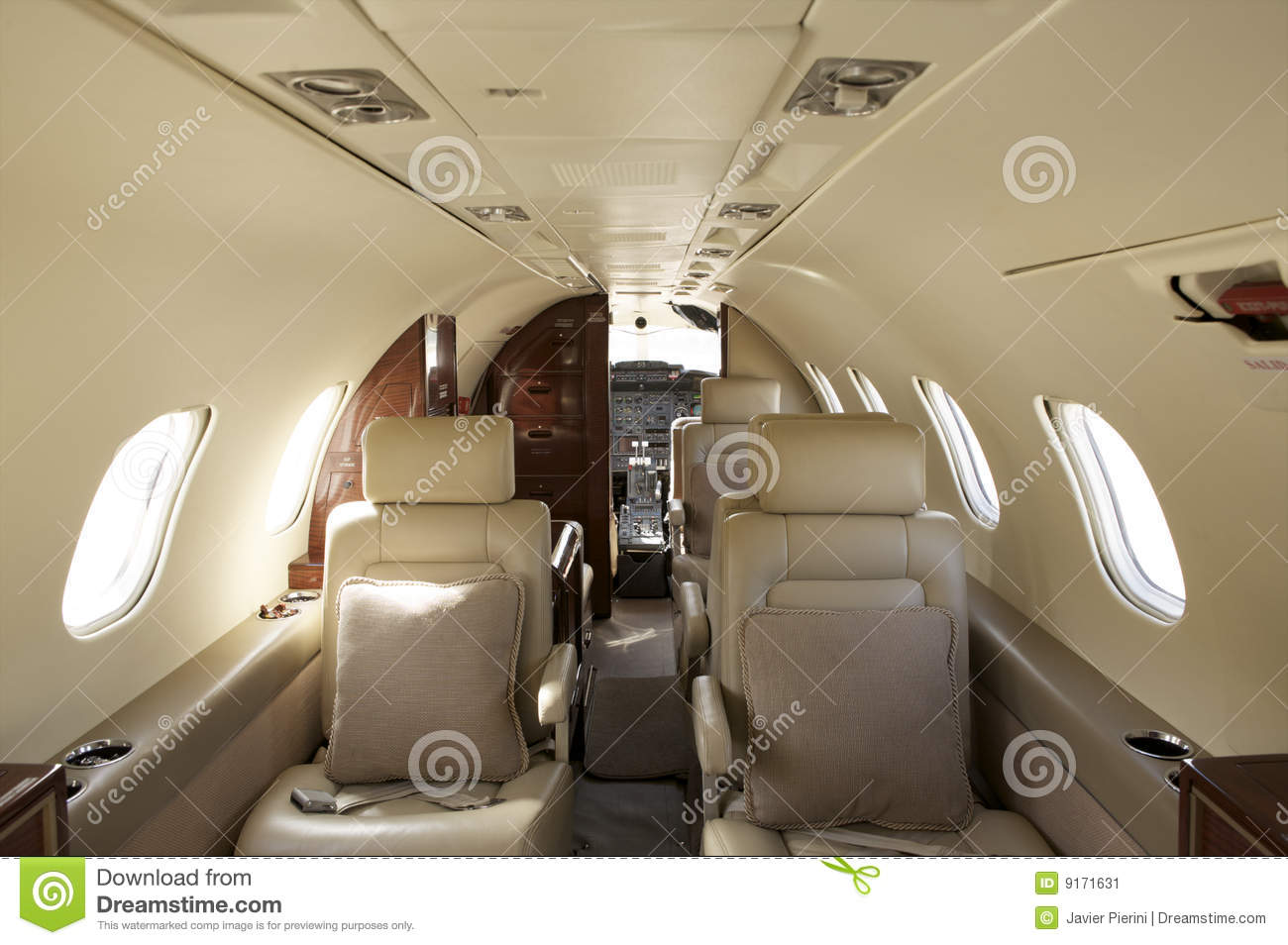 Avion r action int rieur priv image stock image 9171631 for Interieur avion