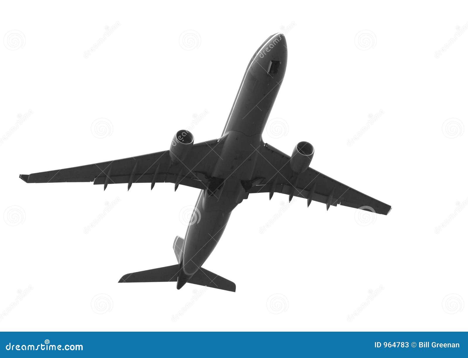 Avion à réaction loin