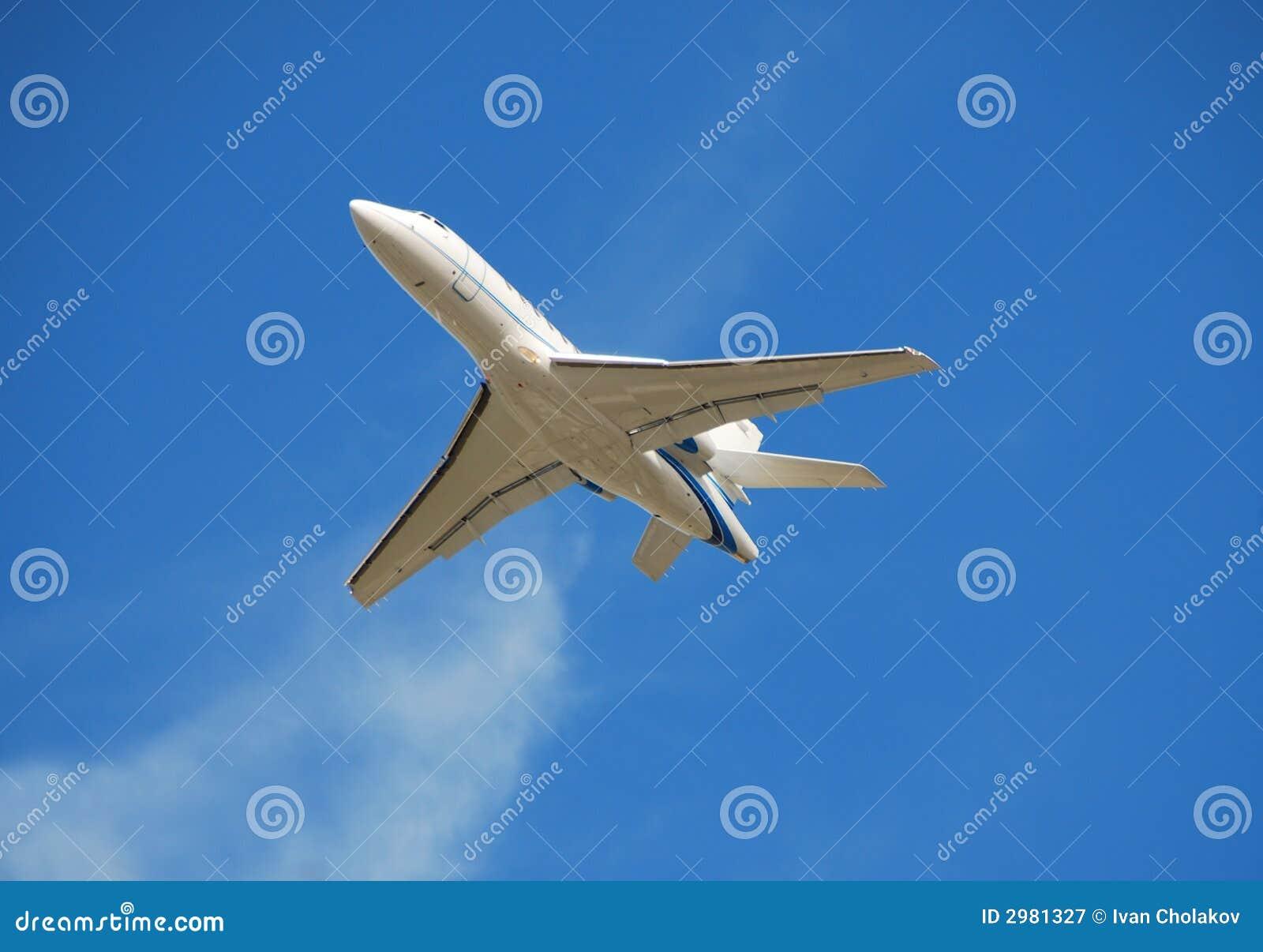 Avion à réaction moderne d affaires