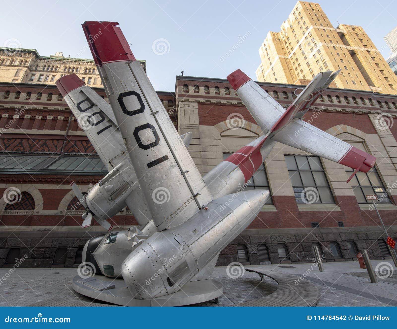 Avion écrasé, art de rue par Jordan Griska, Philadelphie
