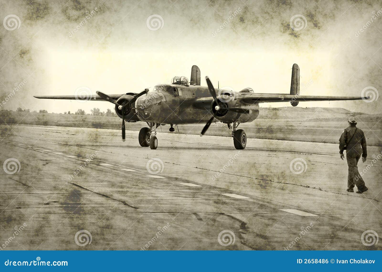 Avion antique de temps de guerre