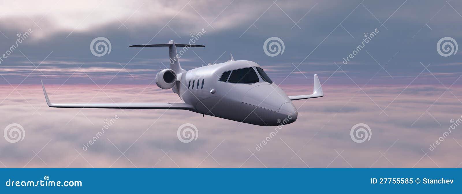 Avion au-dessus des nuages