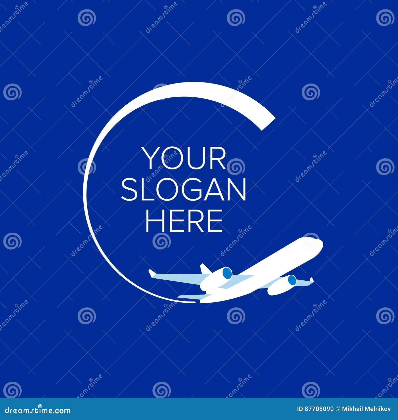Avion blanc au fond de bleu marine