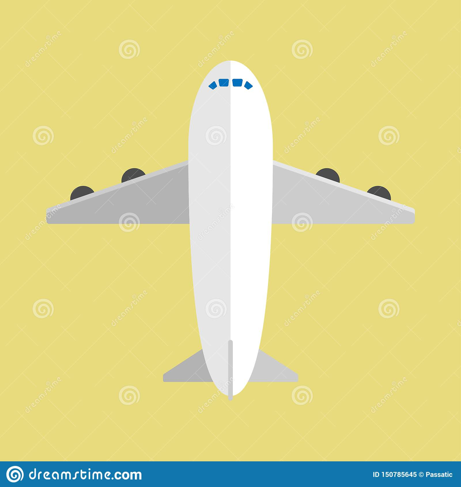 Avion d air dans la conception plate avec le fond