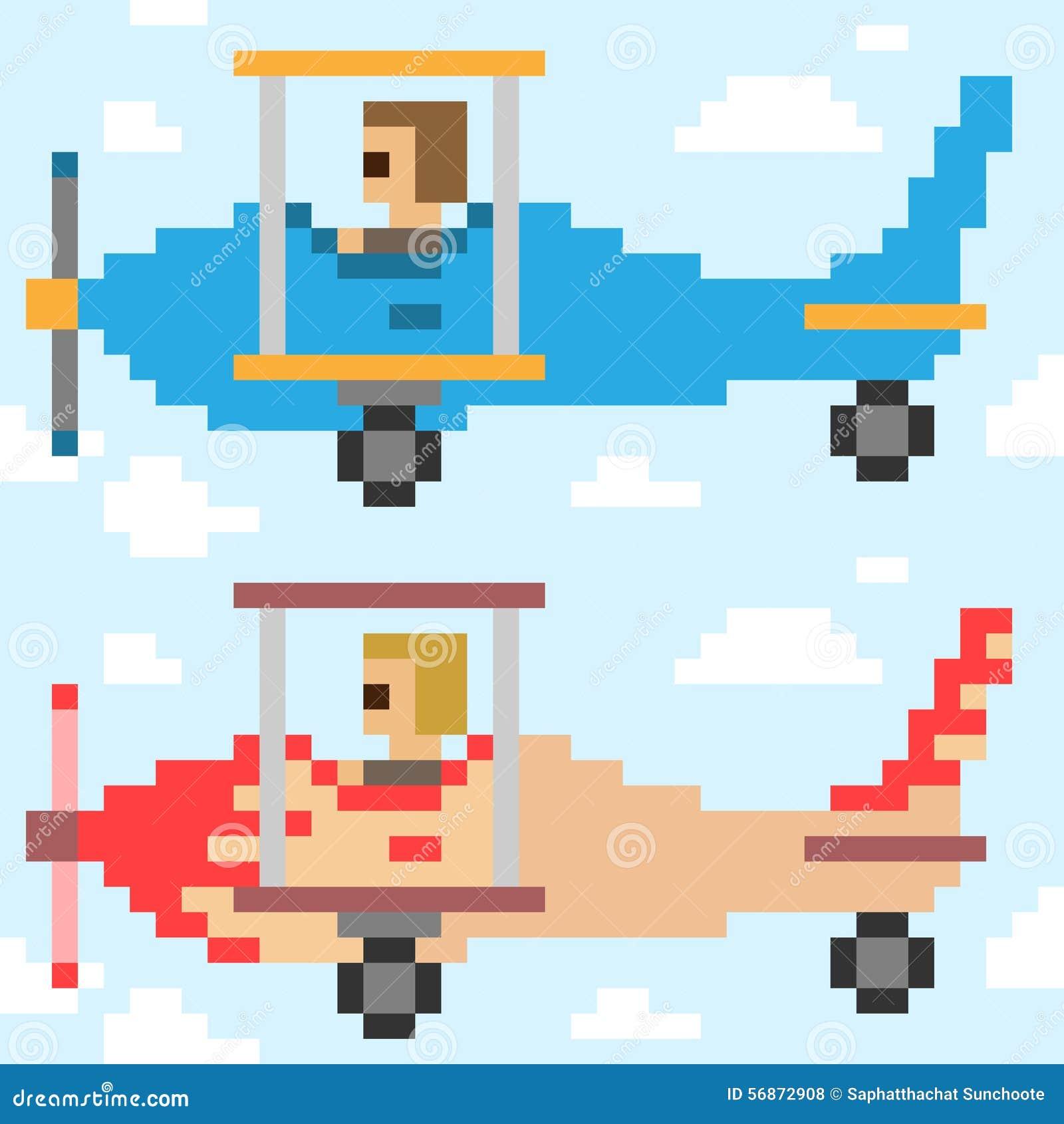 pixel art avion